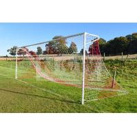 Striped Soccer Goal Net-Knotted Polyethylene-square 120mm mesh Manufactures