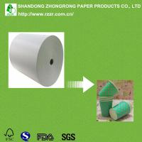 China 250+15gsm PE coated raw material for paper cups on sale