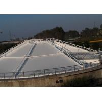 PVC White Tensile Membrane Structures Size Customized For Septic Tank OEM Manufactures