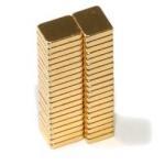 N42 F5x4x1mm Gold Coating Neodymium Magnet Block Neodymium Magnets