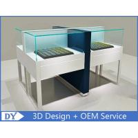 Big Size White Jewelry Display Cases With Lock / Jewellery Display Cabinets Manufactures