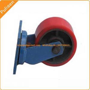 Quality High Strength Polyurethane Rubber PU Coating conveyor Roller urethane wheels for sale