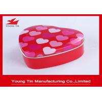 China CMYK Offset Printed Heart Shaped Tin Box For Wedding Candy Sweets Gifts Packaging on sale