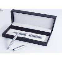 Professional Cardboard Pen Gift Box Grey Suede Lining Material Customized Logo Manufactures