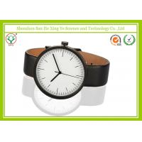 Big Round Dial Leather Band Watch Eco-friendly With Inspirational Power Manufactures