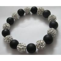 Handmade Jewellery Shamballa Beads Bracelets with Wood Balls as Friendship Gift Manufactures