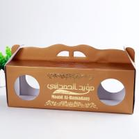 Gloss Varnish Custom Corrugated Boxes Height Weight Capacity Flexible With Window Manufactures