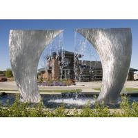 China Weather Resistant Stainless Steel Water Feature Customized Size Acceptable on sale
