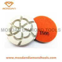 3'' White Flower Resin Bond Concrete Polishing Pads 12mm Thickness Manufactures