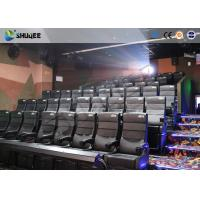 Amusement Park 4D Movie Theater With Electric System / 4D Cinema Chairs Manufactures