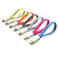 Magnetic Flat Micro USB Male to USB 2.0 Male Data Sync / Charging Cable 20cm Manufactures