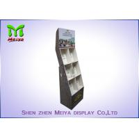 Eye - Catching Magazines Cardboard Floor Display Stands , Cardboard Book Displays Shelves Manufactures