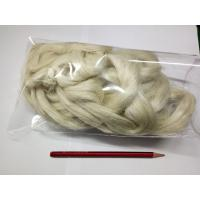 China Eco Friendly Weaving Spinning Hemp Short Fibres For Coarse Yarn 5NM / 8.5NM / 10.5NM wholesale