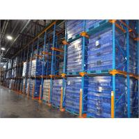 Heavy Duty Metal Drive In Pallet Racking , Anti Rust Drive Thru Racking System Manufactures