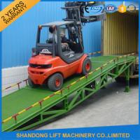 6 ton - 15 ton Hydraulic Trailer Ramp Lift with Anti Slip Corrugated Steel  Work Platform Manufactures