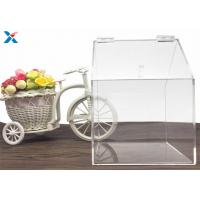 House Shape Clear Acrylic Gift Boxes Candy Container Non Toxicity For Retail Store for sale