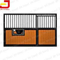 Galvanized Temporary Vinyl Sewn Horse Stall Panels For Horse Stables