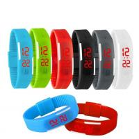 Outdoor Men Sport LED Digital Watch Silicone Wristwatch For Promotional Gift Manufactures