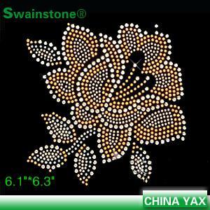 jx820 2015 New fashion rose hot fix rhinesetone motif;china hot fix rose rhinestone motif;hot fix rose motif rhinestone Manufactures