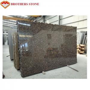 Polished And Flamed Granite Stone Tiles , Natural Baltic Brown Granite