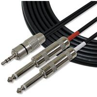 """Full Metal 1/8"""" TRS Stereo Audio Link Cable 3.5mm to 6mm Cords for iPhone / iPod Manufactures"""