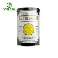 Nut Flavor and Bulk Printing Desigh Packaging Tin Can for Instant Coffee Powder Manufactures