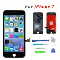 China Black Color Iphone LCD Touch Screen , 4.7 Iphone 7 LCD Touch Screen on sale