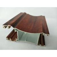 Rectangle Wood Finish Aluminium Profiles / 6063 6063A Aluminum Door Frame Profile Manufactures