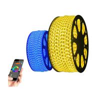 China Flexible 16 Colors Wirless 12 Volt Led Rope Lights Control By IOS / ANDROID Bluetooth on sale