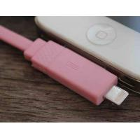 Fast Charging IPhone 5 2 In 1 Micro USB Data Sync Cable Pink With Apple 30 Pin Manufactures