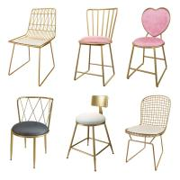 China Contemporary Metal Dining Chairs , Restaurant Style High Back Chair on sale