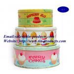 Fresh 3-Piece Set Round Cake Tin Box, Round Shape Metal Cake Boxes/ Tin Cake Box, Gift Set Manufactures
