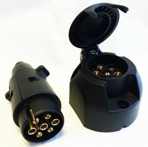 Custom Plastic 7 Pin Towing Socket , Towbar Electric Socket Waterproof Manufactures