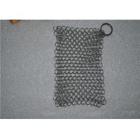 304 6*8 Inch Stainless Steel Chainmail Scrubber / Chainmail Cast Iron Scrubber Manufactures
