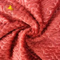 China New Design Super soft embossed polyester fleece fabric for sofa and home decoration on sale