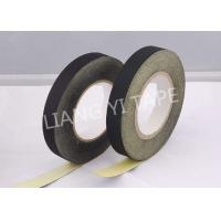 Black / White Adhesive Cloth Tape , 105°C 0.18mm Heat Resistant Insulation Tape Manufactures