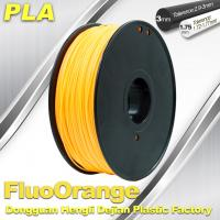 Eco Friendly PLA  Fluorescent  Filament 1.75mm / 3.0mm 3D Printing Filament Manufactures