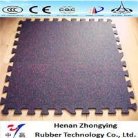 China Crossfit safety insulation gym Interlocking flooring mat rubber tile for indoor gym on sale
