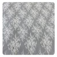 150CM Wedding Dress Floral Lace Fabric Chantilly OEM Textile Floral Fabric Manufactures