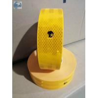 China Conspicuity ECE 104 Reflective Tape , Gold Yellow Reflective Tape With Edge Class C on sale