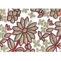 Luxury 100% Polyester Embroidered Home Decor Fabric 100-140gsm Manufactures