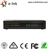 Quality E-link Unmanaged 8  RJ45 Port 10 / 100 / 1000Mbps Auto-Negotiation  supporting Auto-MDI / MDIX Ethernet Switch for sale