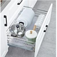 Smoothly Sliding Kitchen Pull Out Basket Anti - Rust And Anti - Deformation Manufactures
