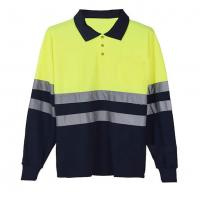 China Long sleeve Reflective Safety Hi Vis Polo Shirt OEM breathable quick dry work wear unisex heat sublimation printed on sale