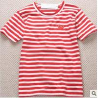 Quality LADY'S YARN DYED STRIPED T-SHIRT FROM CHINA for sale