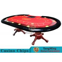 Tiger Legs Poker Game Table With European Style Groove Design In Mesa Runway Manufactures