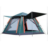 China Outdoor Sunproof Water Resistant PU2000MM Coated 210D Polyester Green Automatic Firbreglass Frame Camping Cosy Tent on sale