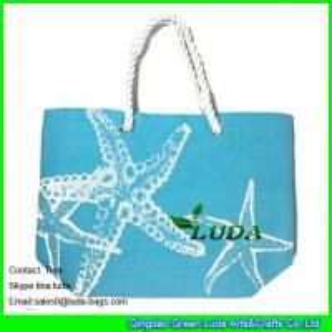 China LUDA seafish  personalized bags summer  paper straw bags fashion handbags purse on sale