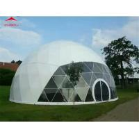 China 750 - 850gsm PVC Roof Fabric Geodesic Dome Tent Flame Retardant DIN 4102 B1 on sale