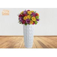 Glossy White Floor Vases Homewares Decorative Items Fiberglass Planters For Home Hotel Manufactures